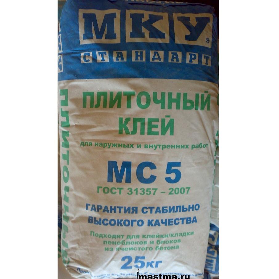 Фото - Плиточный клей МКУ МС-5 25кг
