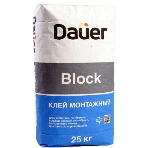 Клей монтажный, для блоков - Дауер Блок 25кг, фото