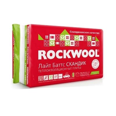 Фото - ROCKWOOL утеплитель (Роквул)  Лайт Баттс скандик (800X600X50мм) 0.288м3, 5.76м2