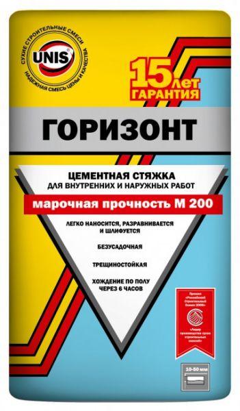 Юнис Горизонт цементная стяжка 25 кг., фото