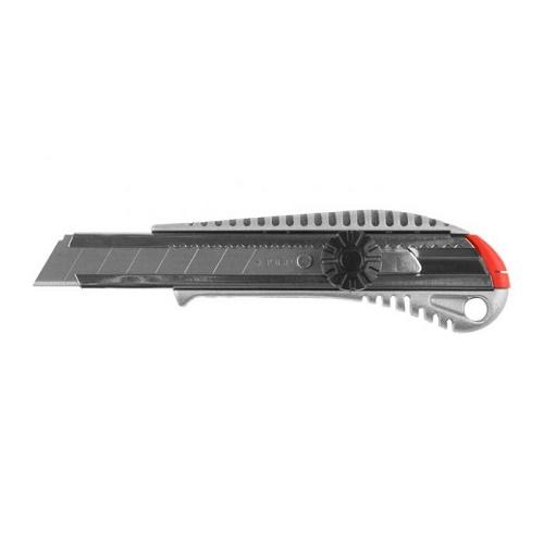 Фото - Нож с сегментированным лезвием, механическая фиксация ЗУБР 18мм